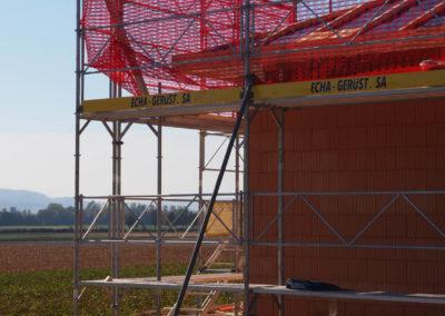 Location échafaudages construction villa