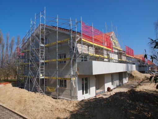 Montage et location d'échafaudages à Chabrey sur des immeubles en constructions